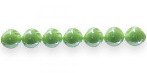 AE78 11mm Õunaroheline ümar läbipaistmatu plasthelmes