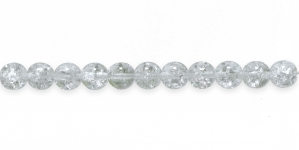 LN343B Ümar klaaspärl, Tšehhi, 8mm, Värvitu läbipaistev mõraline