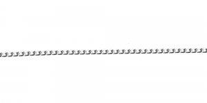 Hõbedane alumiiniumkett, 6 x 3,5 x 1 mm, MA2
