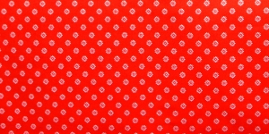 147cm, Punane, valgemustriline puuvillane kangas, 128.473/3016