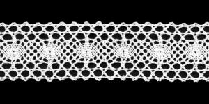 Puuvillane vahepits 3613 laiusega 4 cm, Värv 1, Valge