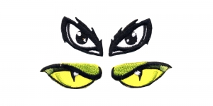 SS46 4 cm x 2 cm ja 3,5 cm x 2 cm Rohelised ja mustad silmad, 2 paari