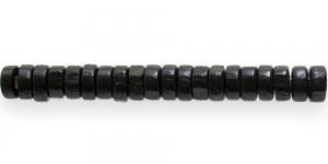 IM22 8x4mm Must lakitud rõngakujuline puithelmes ca. 50tk kmpl