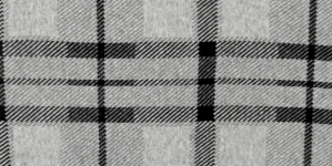 Puuvillane veniv kangas,mustad ruudud, hallil taustal, 150cm