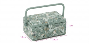 Väike kandiline õmblustarvikute karp 24 x 16 x 11 cm, Hobby Gift HGSR.515