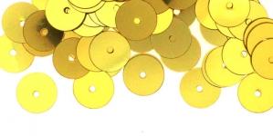 YB92 / Lamedad kettakujulised plastlitrid, kuldsed / ø8mm