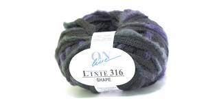 Karvase servaga sallilõng Shape Linie 316; Värv 0009 (Tumedam hall koos lillaga) / ONline