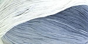 Puuvillasisaldusega pehme lõng, Cotton Gold Batik Design; Värv 2905 (Hall-valge) / Alize