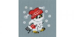 Набор для вышивания для начинающих: Снежок, Riolis 1667