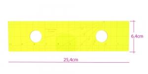 Šabloon-joonlaud vabakäe-teppimiseks, 25,4 cm × 6,4 cm Yütien Design ST-10x2,5