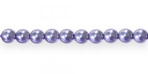 KK312 Ümarad pärlmutter klaaspärlid, Jablonex Tšehhi,6mm Helelilla