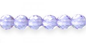 Ümar tahuline klaaspärl, Tšehhi, 14mm, Helelilla läbipaistev, LP46