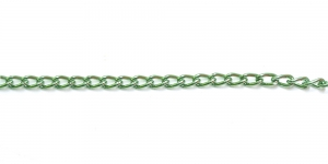 Roheline alumiiniumkett, 6 x 3,5 x 1 mm, MA7A