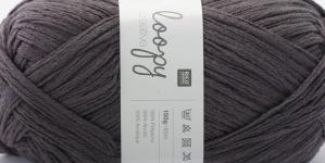 Krookiv lõng kreatiivseks kasutamiseks Loopy; Värv 7 (Tumedam hallikaslilla), RICO Design