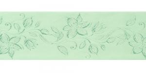 Jacquard satin ribbon, Art.64968, color No. Light Green