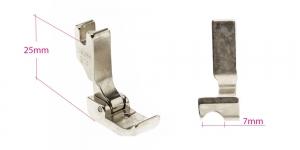 Kõrge kruvikinnitusega (tööstusliku õmblusmasina standard) paspuaalkanditald, 7 mm, renn vasakul, KL0848