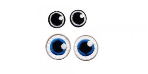 SS45 3 cm ja 2 cm Sinised ja mustad ümarad silmad, 2 paari