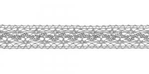 Metallikniidist pits 3037-29 laiusega 2 cm, värv hõbedane