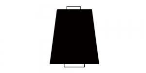 Peenike polüesterniit, koonuspoolil Nr.140, 10.000 y, Coats Diagonal Chain, kollane pooli südamik, must niit