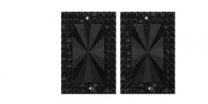 WD37 30x20mm Must, läbipaistmatu dekoraatiivkivi, 2tk