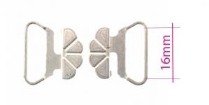 UC16, Rinnahoidja metallkinnis 16mm paelale, värv: niklivaba siidjalt hõbedane