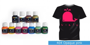 Kattev värv kanga värvimiseks pintsli, tampooni jms abil, Fabric Paint Opaque, 50 ml, Vielo, Värv: fuxiaroosa, #404 Opaque pink