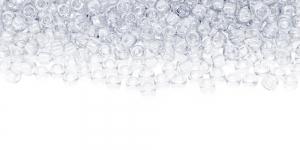 Värvitud, läbipaistvad, terahelmed TOHO, suurus: 8/0, värv: 1; 8-A-1