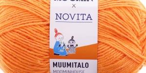 Villasisaldusega sokilõng Muumitalo, Novita, värv 291, Sniffi mahe oranž