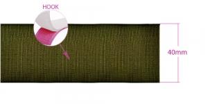 Õmmeldav takjapael, kare pool HOOK, laius 38-40 mm, oliivroheline #42