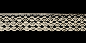 Puuvillane servapits 3695-02 laiusega 2,5 cm, värv kreemjasvalge