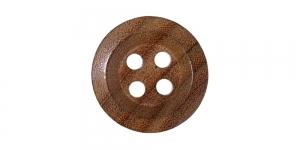 Pähklipruun puitnööp, 27mm, 42L, SB338 222