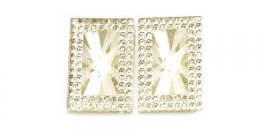 WD14 30x20mm Helekollakas, läbipaistev dekoraatiivkivi, 2tk