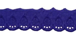 Broderiipits laiemate püstiste lehtedega laius 50mm Nr.3 Konkreetne sinine