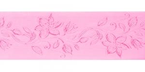 Jacquard satin ribbon, Art.64968, color No.Pink
