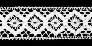 Cotton Crochet Lace 1821-01, 6,5 cm