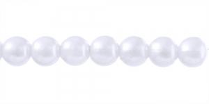 Valge ümar plasthelmes, BI24 12mm