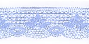 Puuvillane pits 3185-19 laiusega 7 cm, värv helesinine