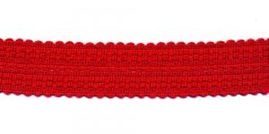 Kootud dekoratiivpael laiusega 3,5cm, värv: punane