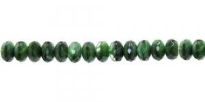 LN186 10x7mm Roheline laiguline lapik, ümar klaashelmes