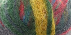 Mohäärisisaldusega lõng Kid Royal Mohair Missisipi 50g, Alize, värv 4013 Sinised, rohelised, roosad, kolalsed toonid