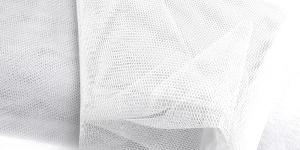 Tugev tüllkangas, 180cm, värv 38, valge