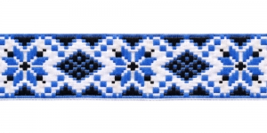 Ribbon, Art.35944, color No. White-Blue
