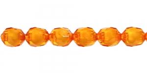 Oranž seest valge läbipaistev akrüülhelmes, 10mm, AA89