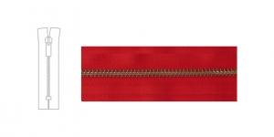 3890OX, 6mm hammastikuga metall-tõmblukk pikkusega 21cm-22cm, puhas punane, antiikpronks hammastikuga