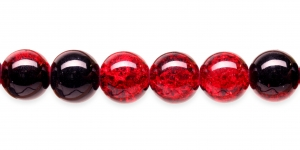 KE24 12mm Punane, must läbipaistev mõraline klaashelmes
