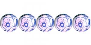 KM147 9mm Valge, ümar klaashelmes, sinise-roosa maalinguga