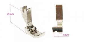 Kõrge kruvikinnitusega (tööstusliku õmblusmasina standard) paspuaalkanditald, 5 mm, vasak, KL0845