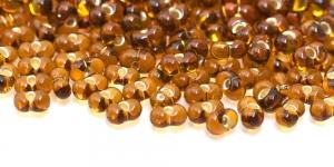 Farfalle, Tumepruunid läbipaistvad hõbedased, läikivad auguga, 3,2 x 6,5 mm, HR56