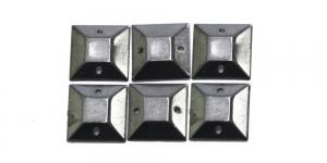 WB1 12mm Hematiit, ruudukujuline dekoraatiivkivi, 6tk