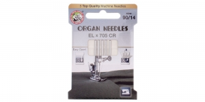 Chromium finished Needle for serger, coverlock, coverlock & flatlock Machines, sergers ELx705 CR Organ No.90 (14)